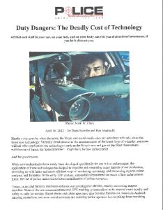 Duty Dangers